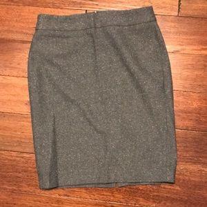 Ann Taylor speckled grey pencil skirt